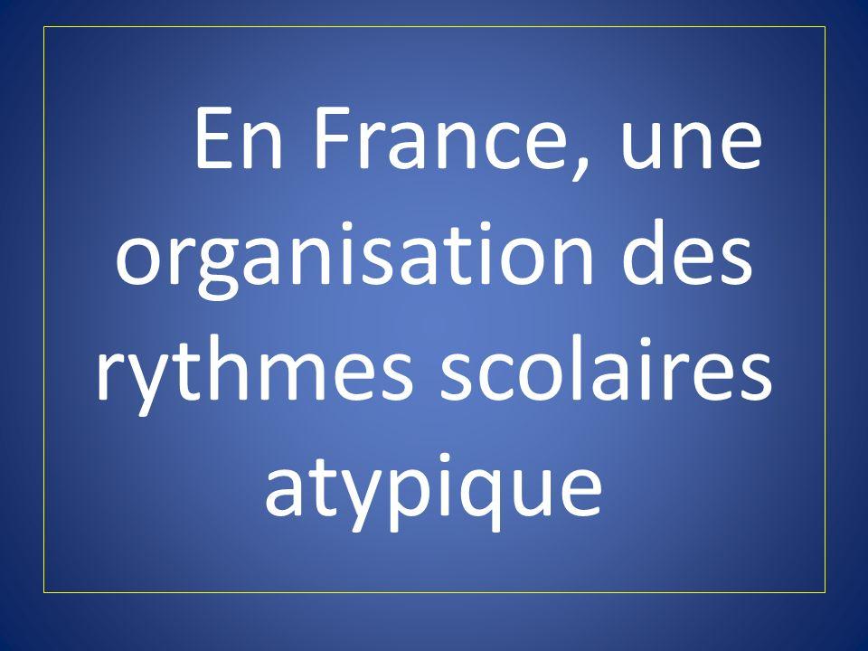 En France, une organisation des rythmes scolaires atypique
