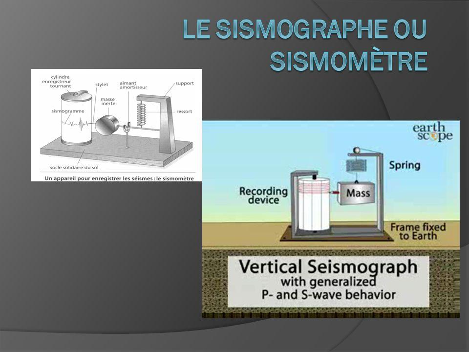 Le sismographe ou sismomètre