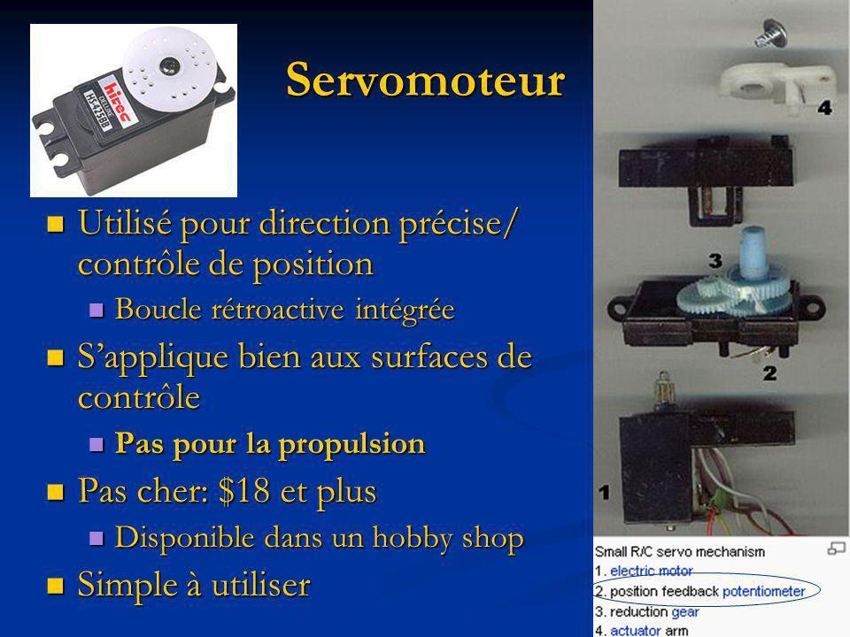 Servomoteur Utilisé pour direction précise/ contrôle de position