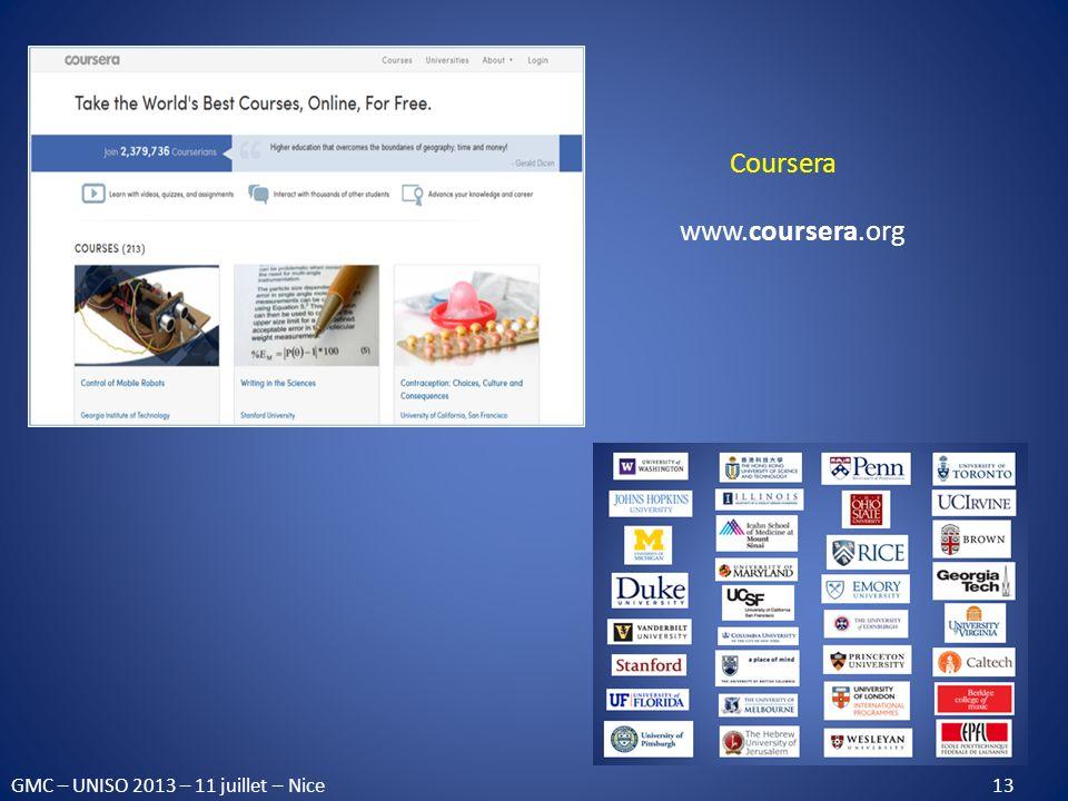 Coursera www.coursera.org.