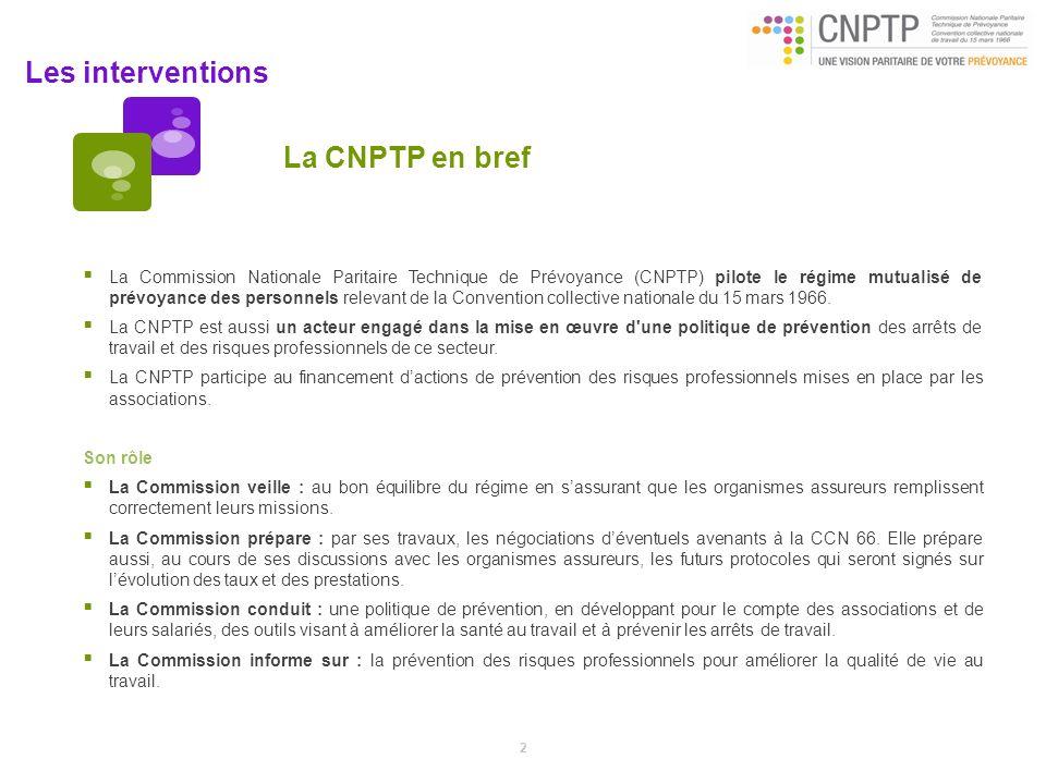 La CNPTP en bref