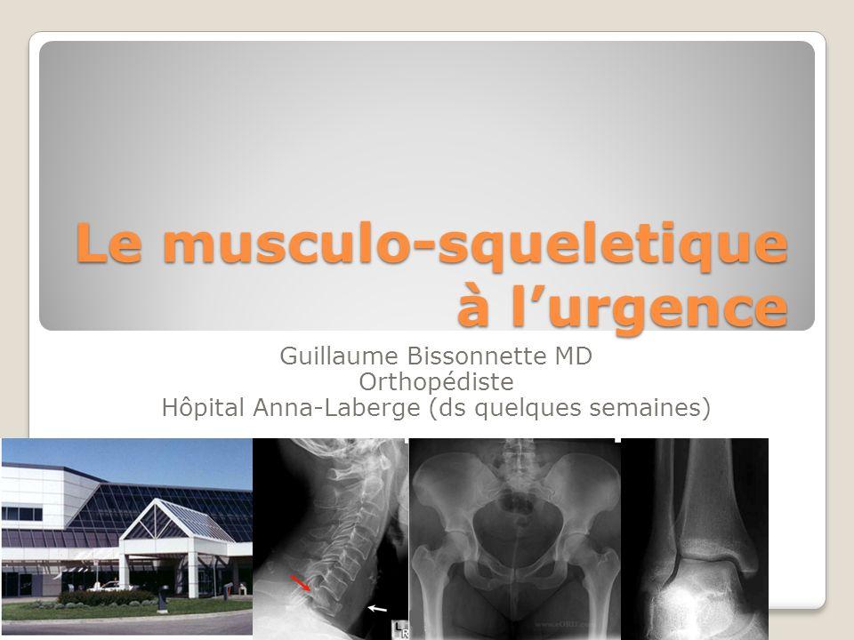 Le musculo-squeletique à l'urgence