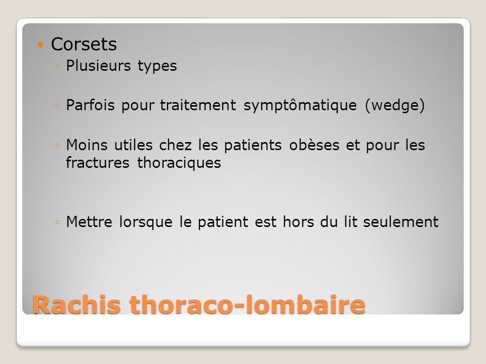 Rachis thoraco-lombaire