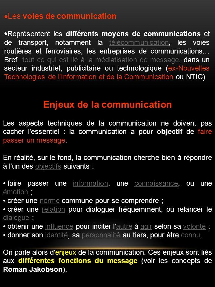 Enjeux de la communication