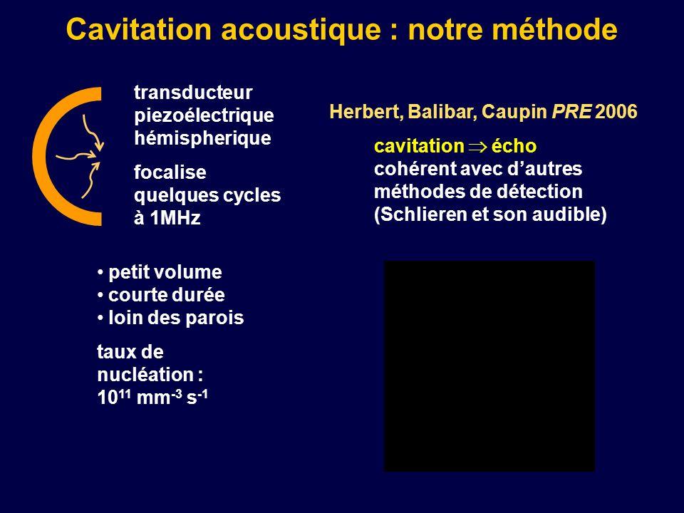 Cavitation acoustique : notre méthode
