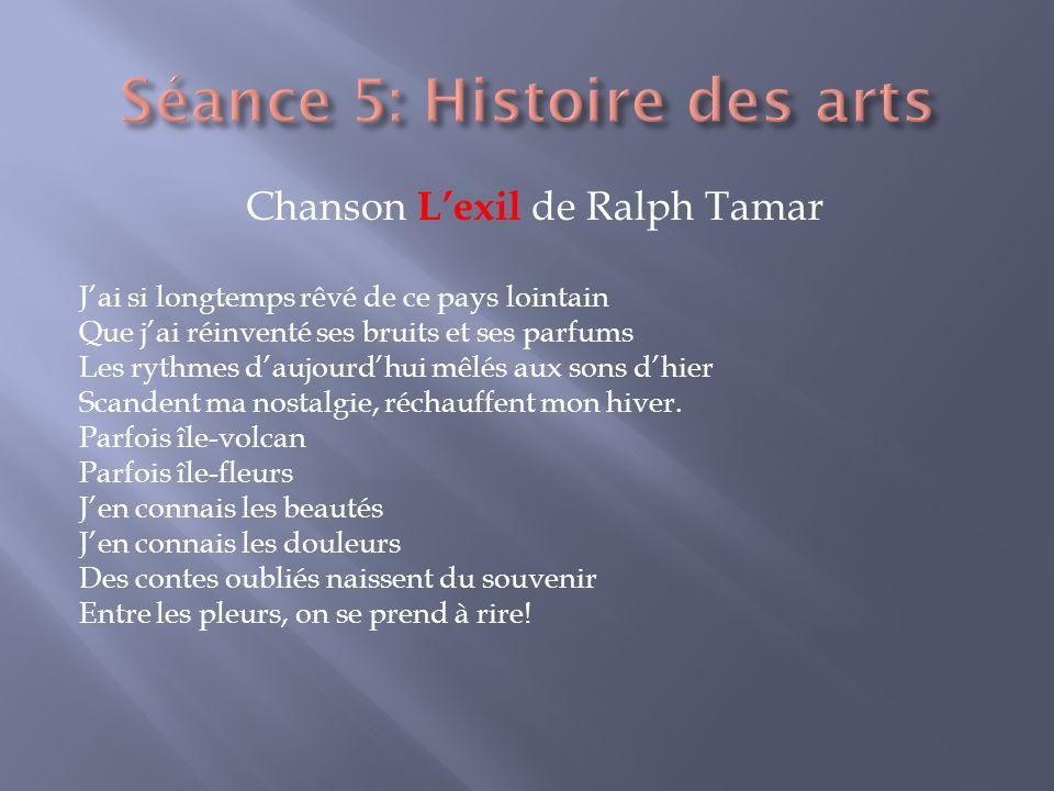 Séance 5: Histoire des arts