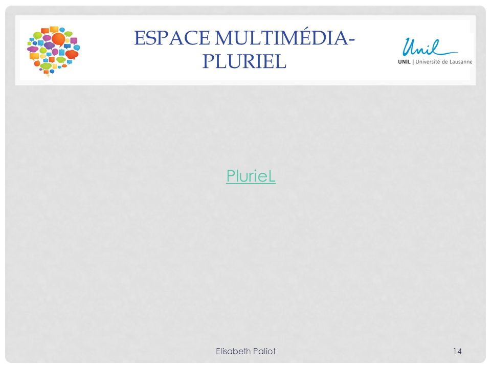 Espace multimédia- Pluriel