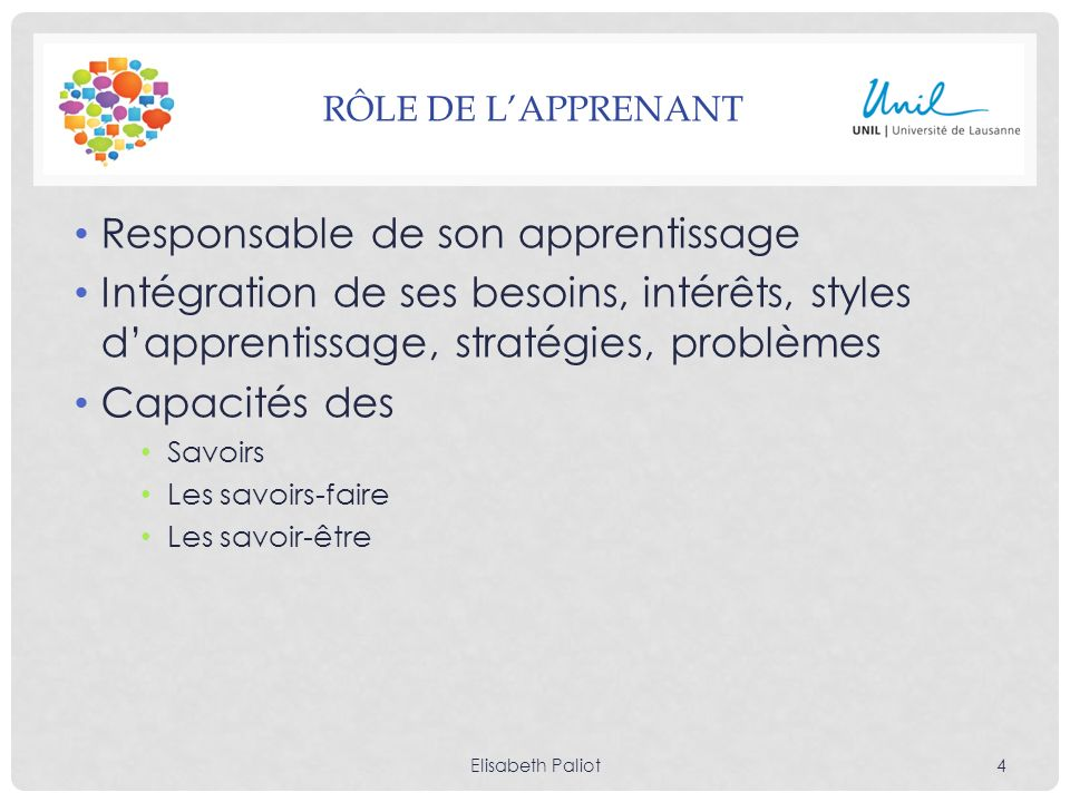 Responsable de son apprentissage