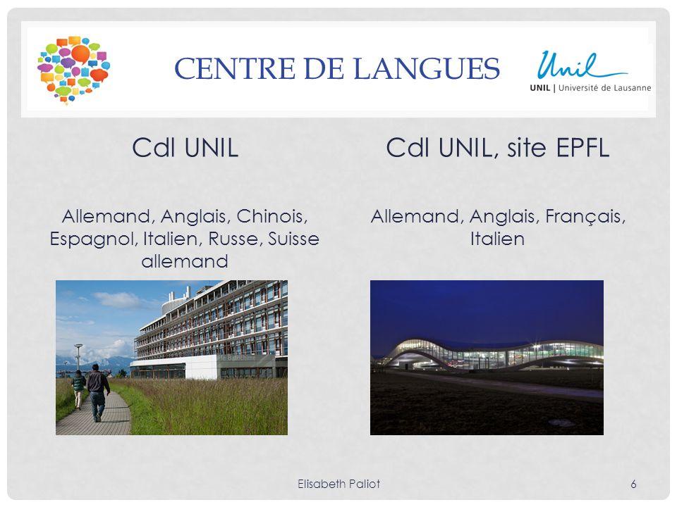 Centre de langues Cdl UNIL Cdl UNIL, site EPFL