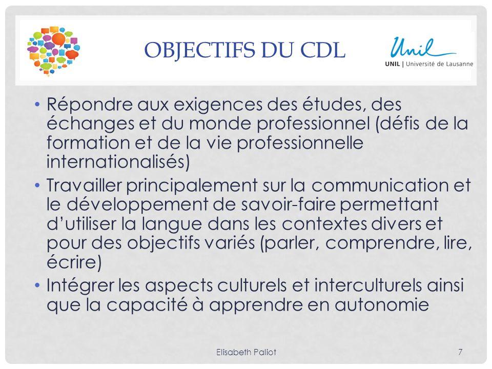 Objectifs du Cdl