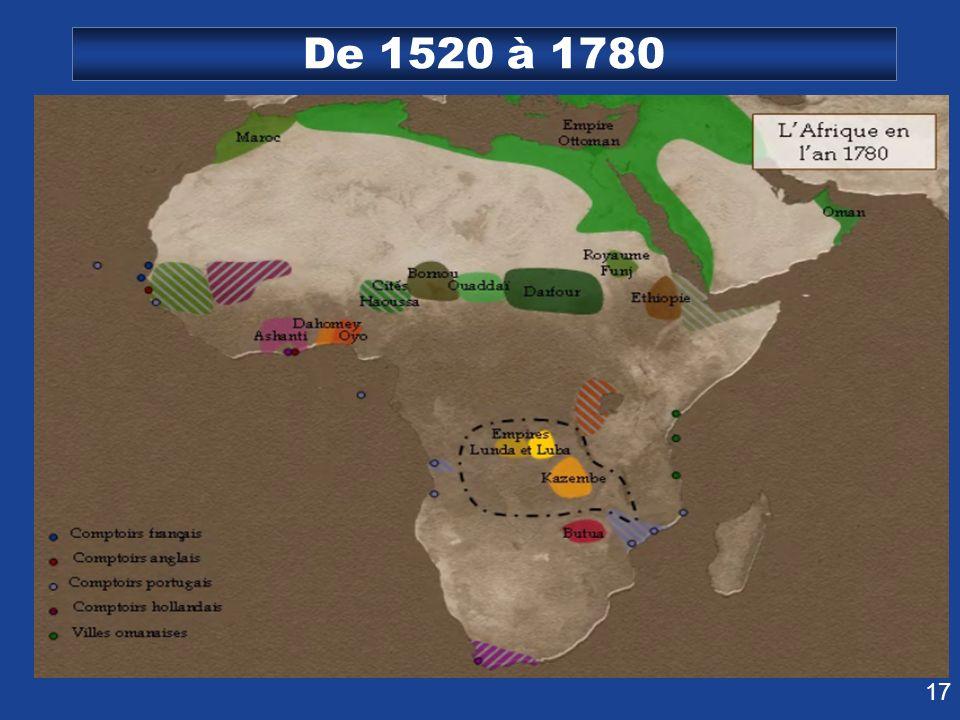 De 1520 à 1780
