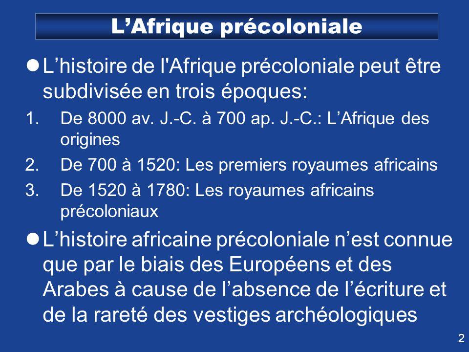 L'Afrique précoloniale