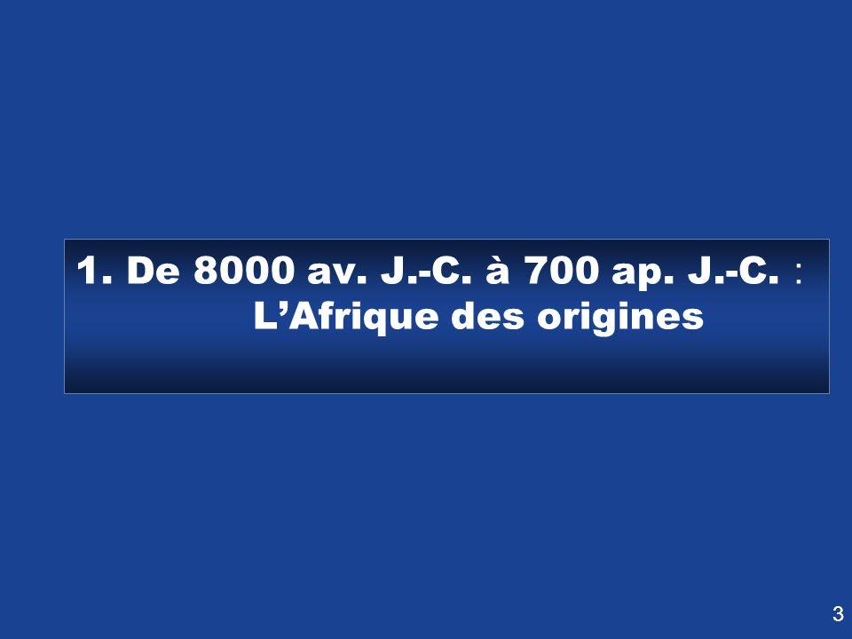 1. De 8000 av. J.-C. à 700 ap. J.-C.: L'Afrique des origines