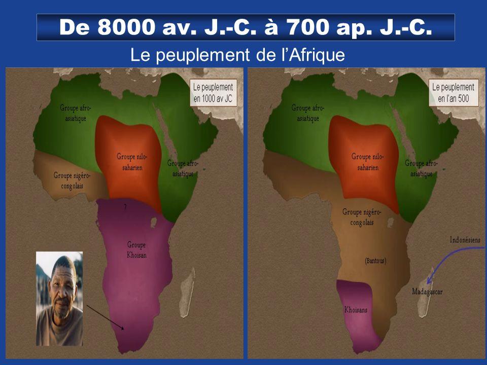 Le peuplement de l'Afrique