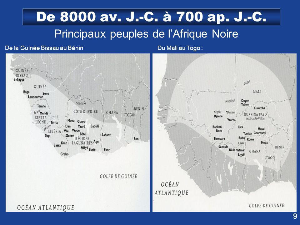 Principaux peuples de l'Afrique Noire