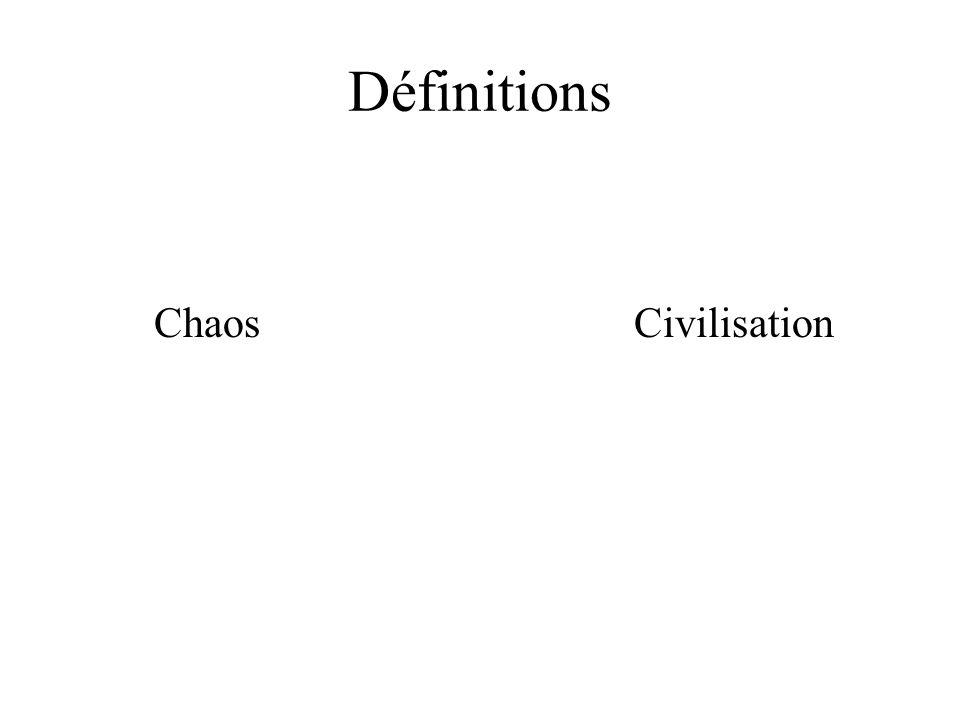 Définitions Chaos Civilisation