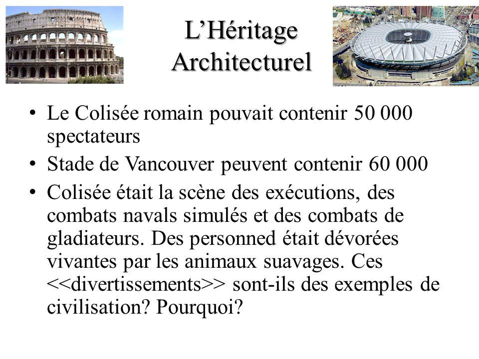 L'Héritage Architecturel