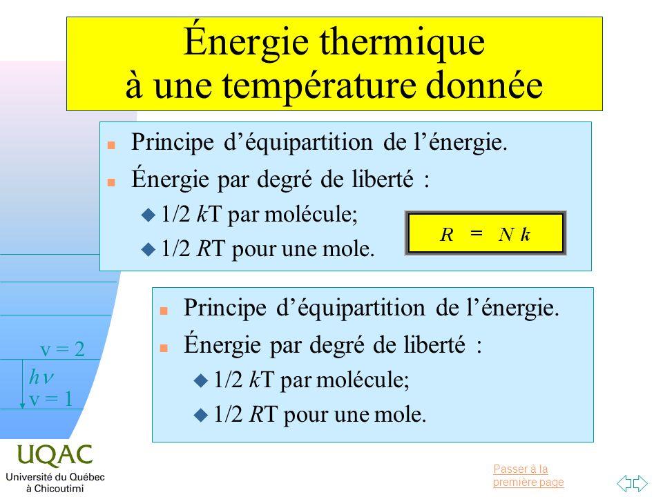 Énergie thermique à une température donnée
