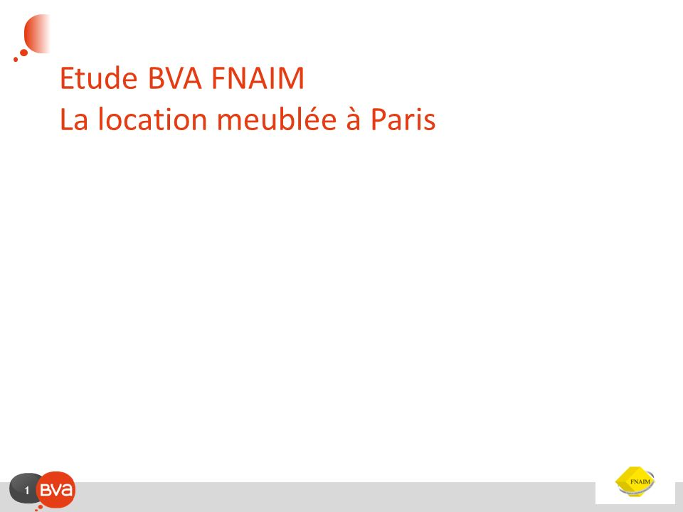 Etude BVA FNAIM La location meublée à Paris