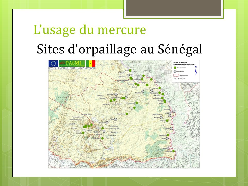 Sites d'orpaillage au Sénégal