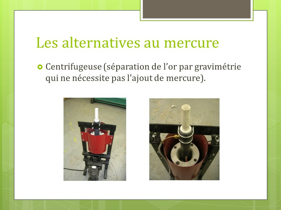 Les alternatives au mercure