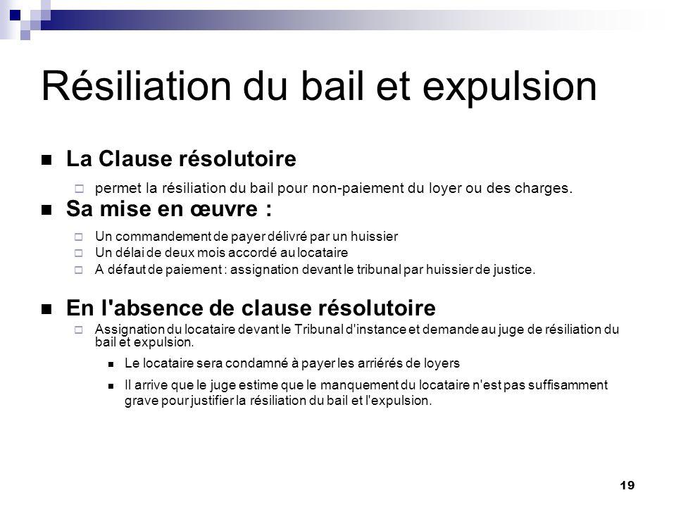 Location vide usage d habitation ppt t l charger - Resiliation bail meuble par le proprietaire ...