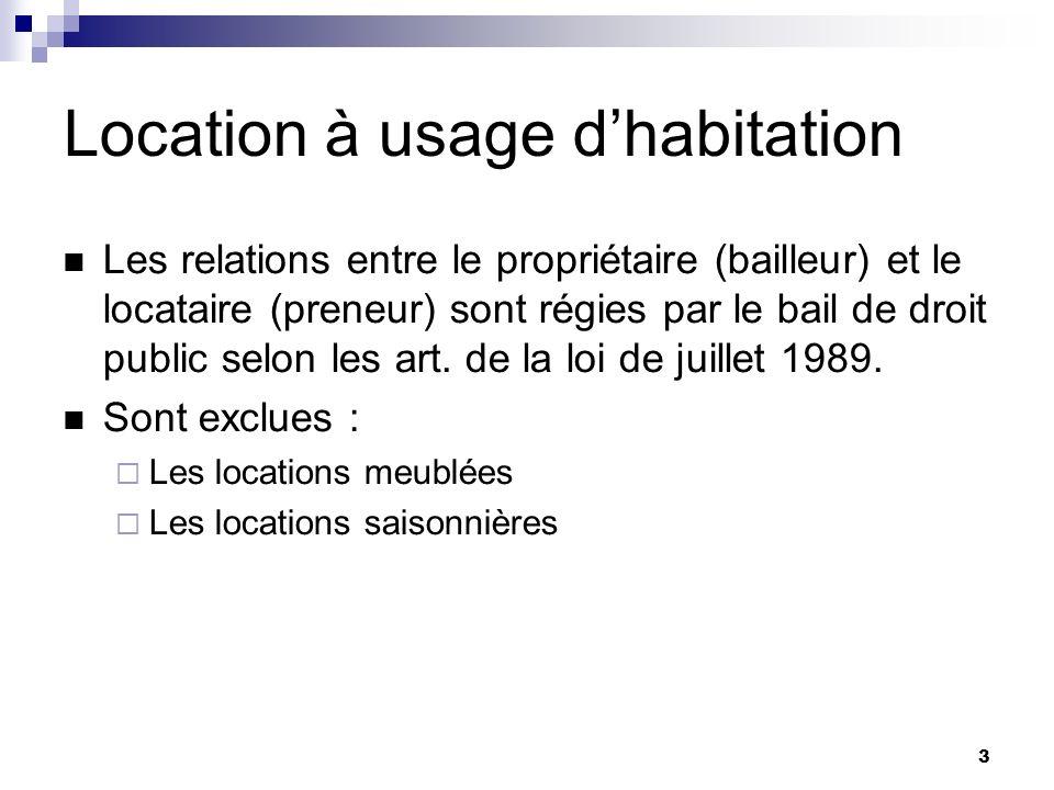 Location vide usage d habitation ppt t l charger - Location sans bail droit locataire ...