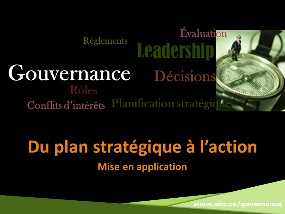 Du plan stratégique à l'action