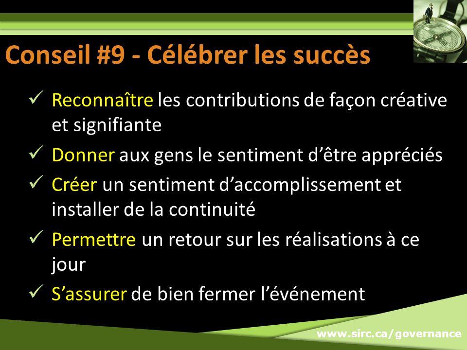 Conseil #9: Célébrer les succès