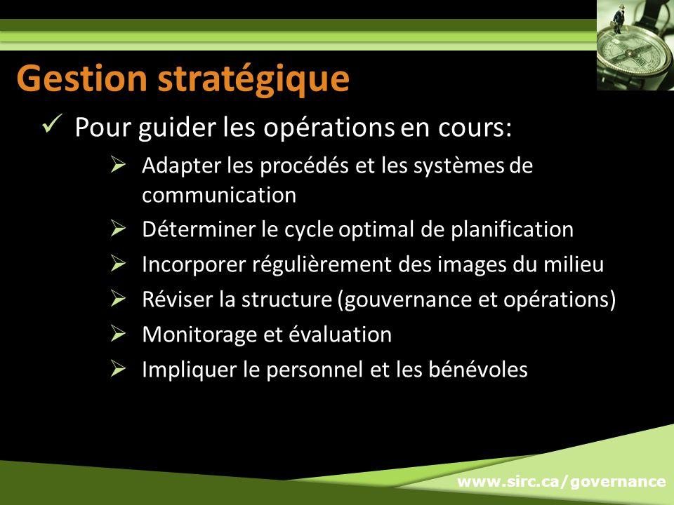 Gestion stratégique Gestion stratégique