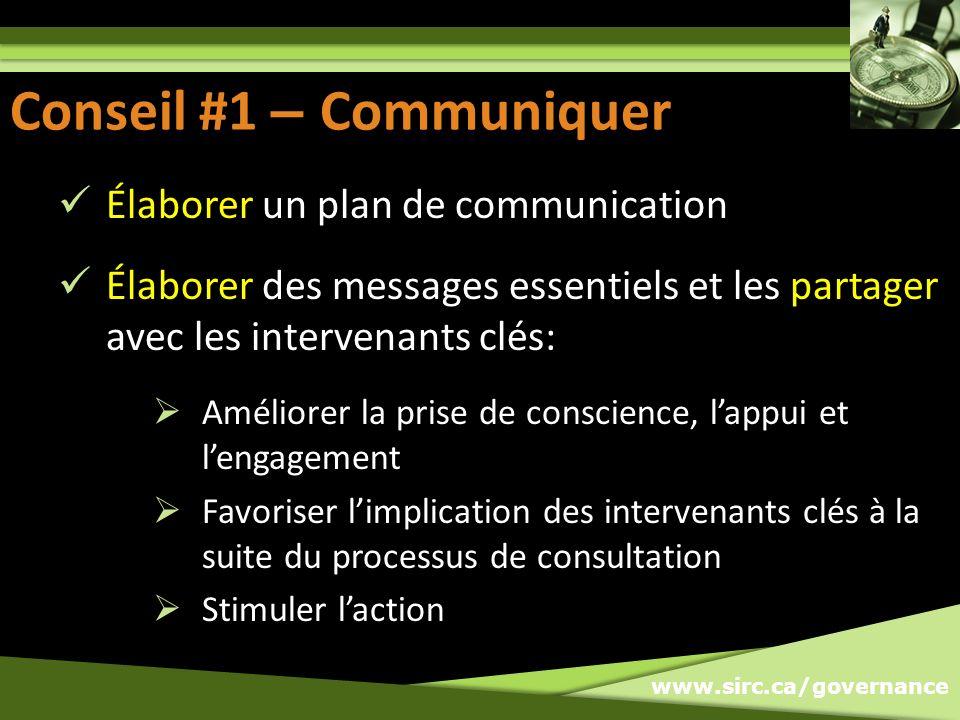 Conseil #1 - Communiquer