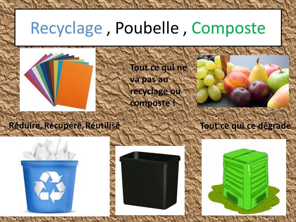 Recyclage , Poubelle , Composte