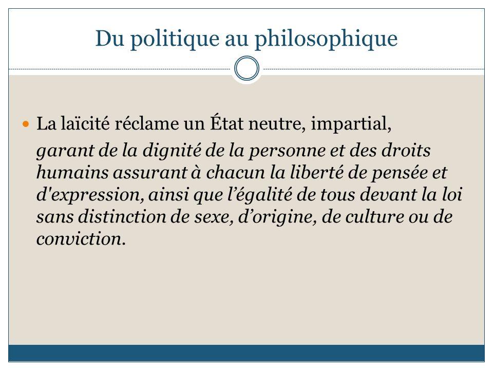 Du politique au philosophique
