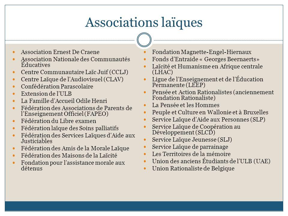 Associations laïques Association Ernest De Craene
