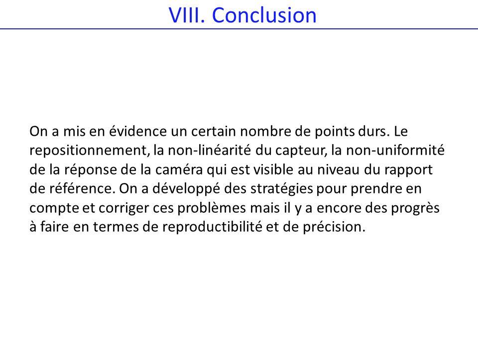 VIII. Conclusion