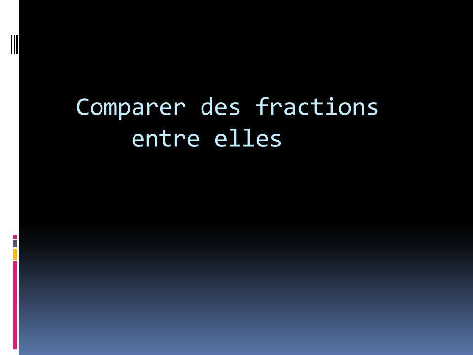 Comparer des fractions entre elles