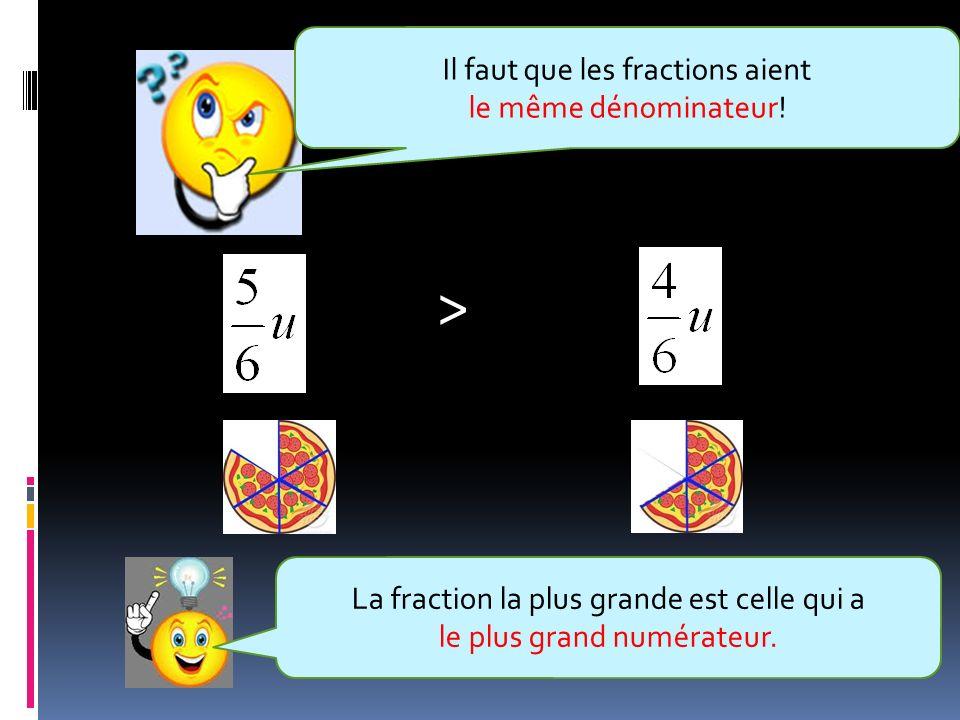 > Il faut que les fractions aient le même dénominateur!