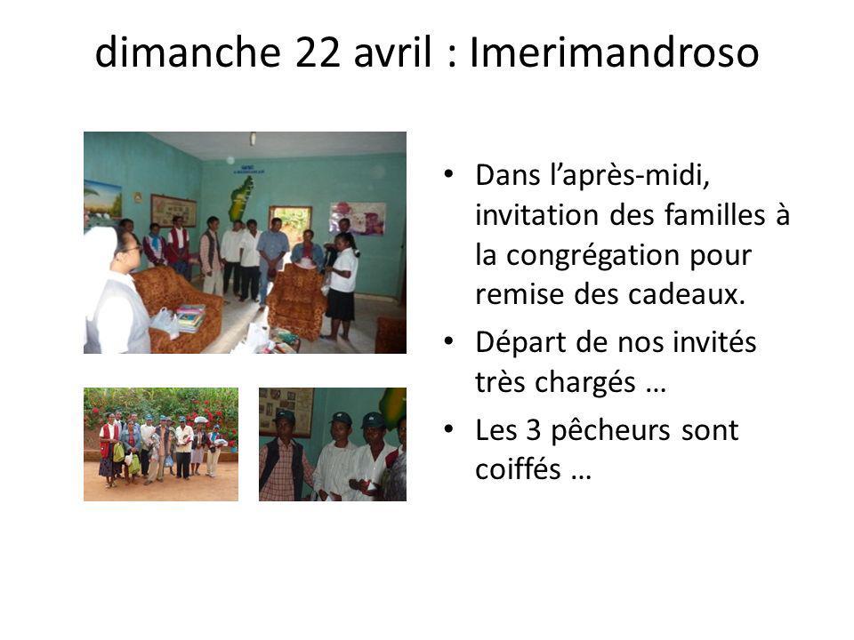 dimanche 22 avril : Imerimandroso