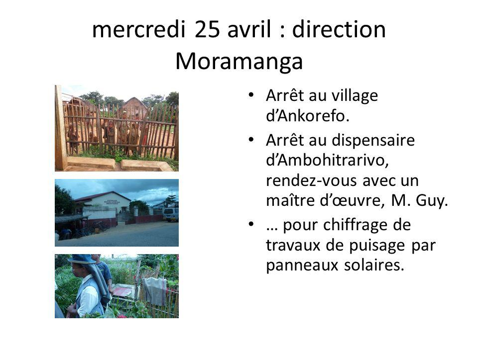 mercredi 25 avril : direction Moramanga