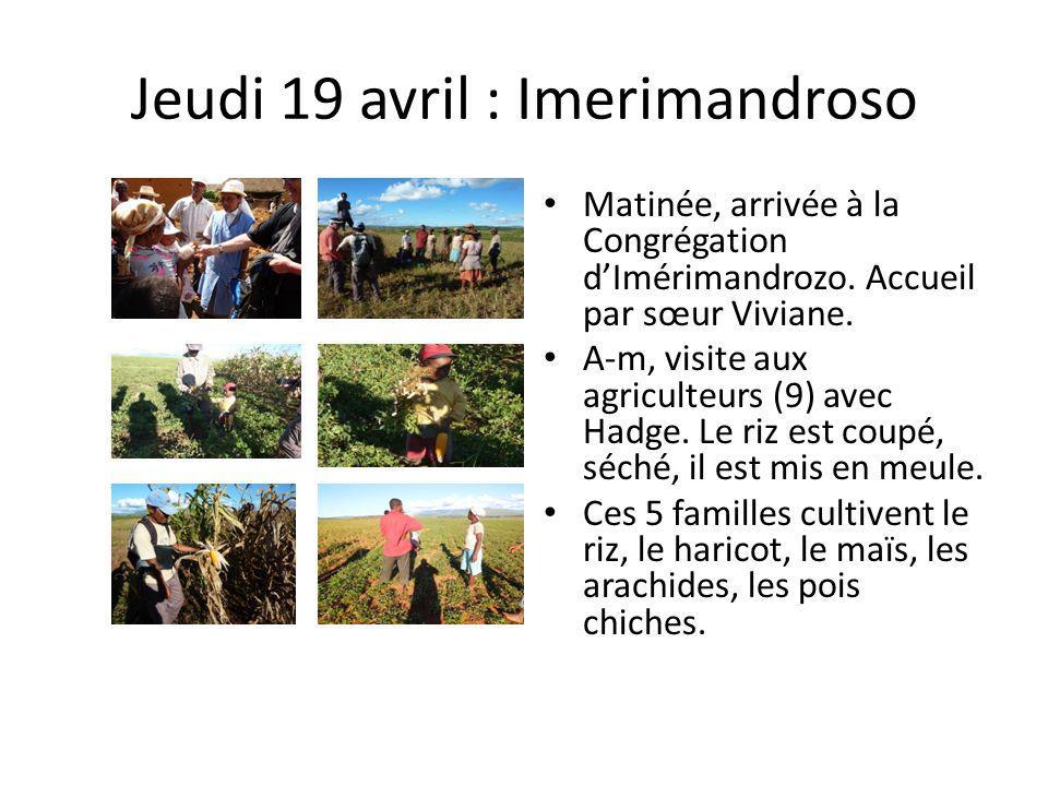 Jeudi 19 avril : Imerimandroso