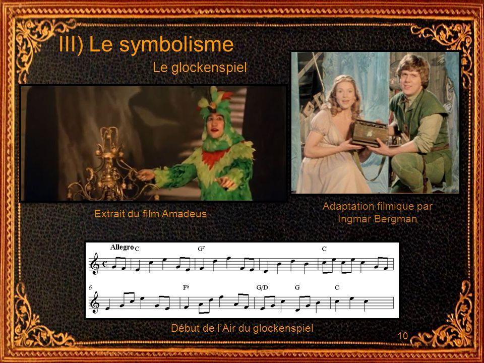 III) Le symbolisme Le glockenspiel