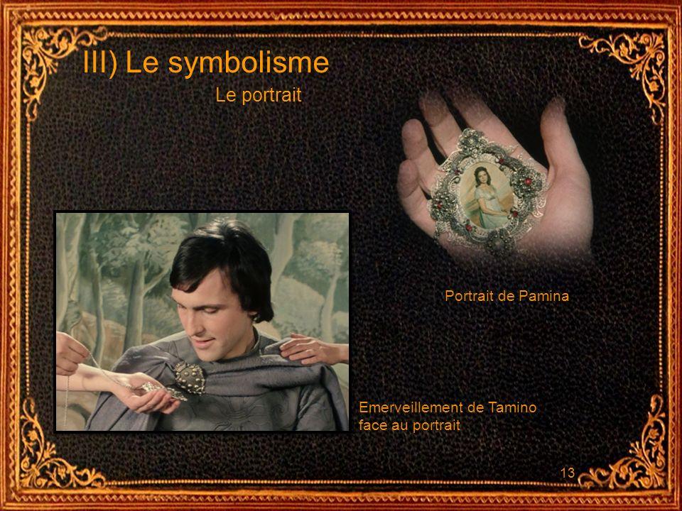 III) Le symbolisme Le portrait Portrait de Pamina