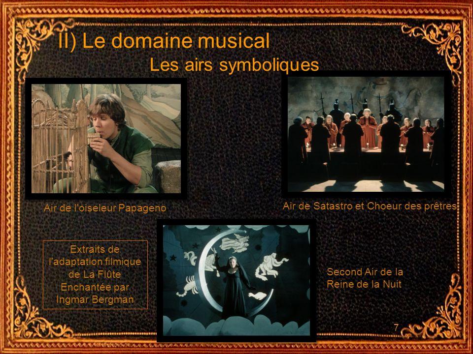 II) Le domaine musical Les airs symboliques