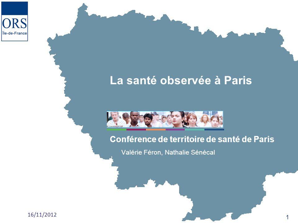 La santé observée à Paris