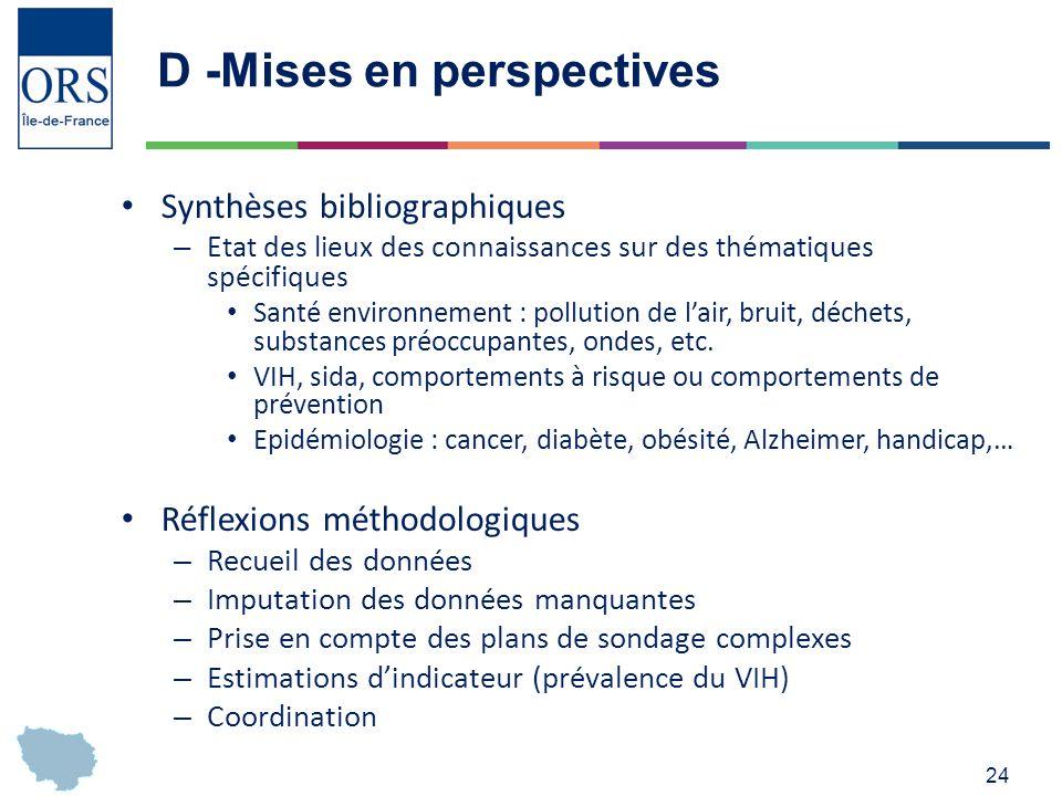D -Mises en perspectives