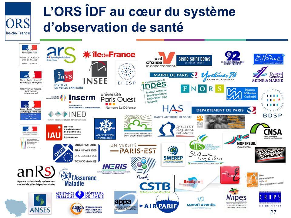 L'ORS ÎDF au cœur du système d'observation de santé