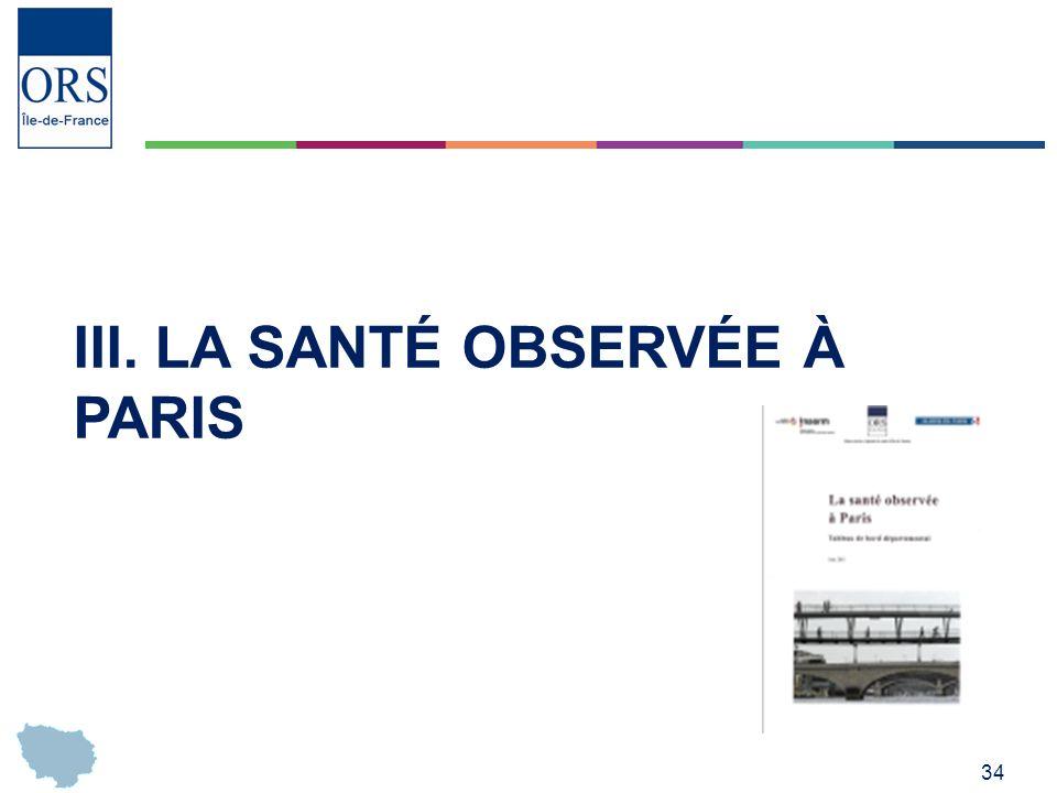 III. La santé observée à Paris