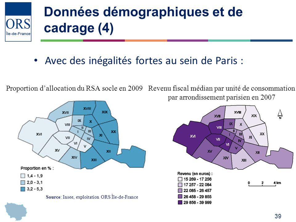 Données démographiques et de cadrage (4)