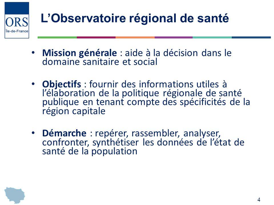 L'Observatoire régional de santé