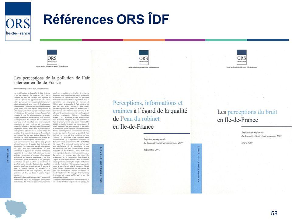 Références ORS ÎDF